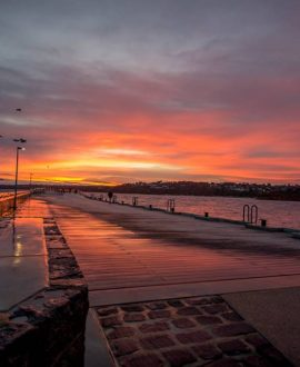 Mornington Harbour winter sunrise