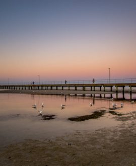 Rosebud pier sunset
